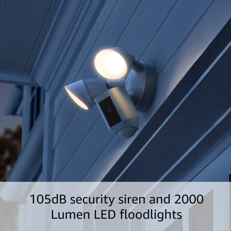 All-new Ring Floodlight Cam Wired Plus with motion